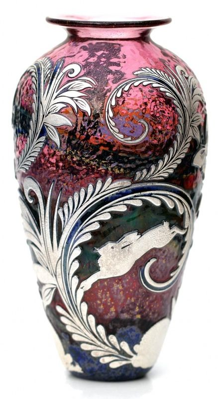 Reheat silver ruby rabbits, Jonathan Harris studio glass Ltd, Sterling silver…