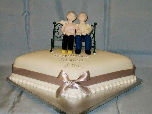 This simple cake says it all! #anniversarycake #cutecakes ...