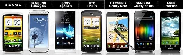 Comparacion de los mejores smartphones  con android del mercado