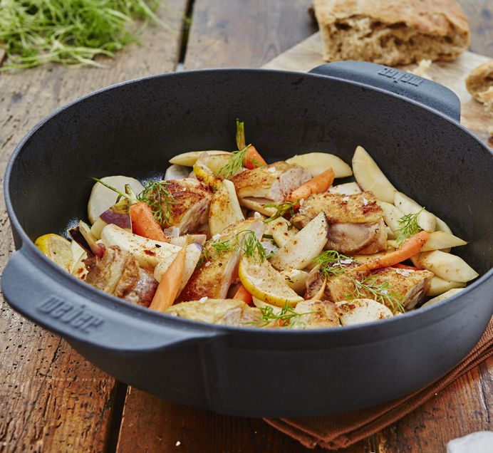 This Lemon Chicken Ragout recipe is tasty and saves on washing up
