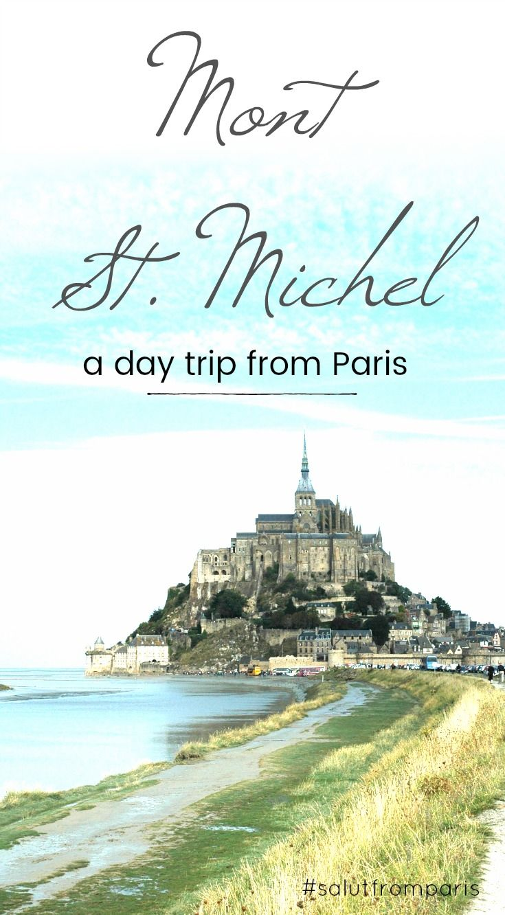 Mont Saint Michel! Take a day trip from Paris and explore more of France than just Paris. Check out this 10 nicest day tours from Paris to stunning locations and destinations around Paris. Visit some of the most beautiful locations in France: Étretat, Champagne, the Castles in the Lore Valley, the beaches in the Normandie... the Gardens of Monet in Giverny.. thats just some of the day tours from Paris, see more!