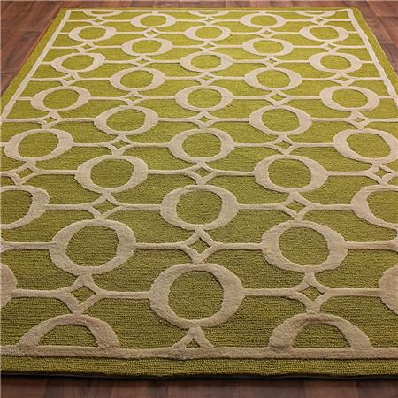 Indoor Outdoor Carved Ellipse Rug