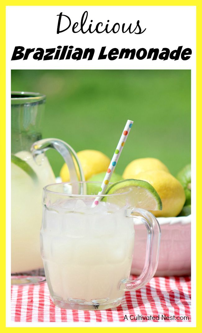 Delicious Brazilian lemonade recipe AKA Swiss lemonade It's sweet, creamy, and wonderfully refreshing!