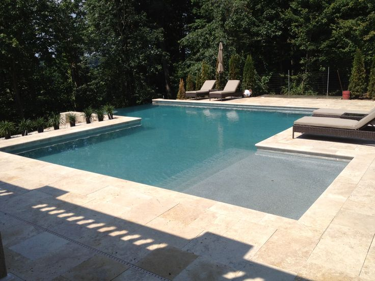 Geometric concrete pools are great for those who appreciate an angular look.