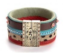 Exoal Leren armband Bangle