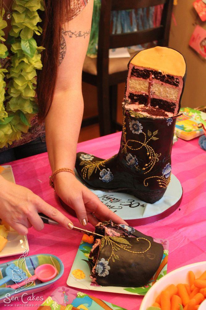 boot cake cowboy