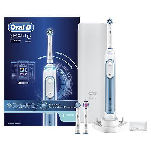 Oral-B Smart 6 6000N Cross Action Elektrische Tandenborstel  Description: Oral-B Smart 6 6000N Cross Action Elektrische Tandenborstel is de nieuwste Smart tandenborstel van Oral-B  Price: 129.95  Meer informatie  #tandenborstel #philps #braun #tand #poetsen