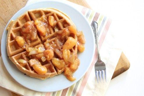 Naturally Ella | Peachy Waffle Sauce | Naturally Ella