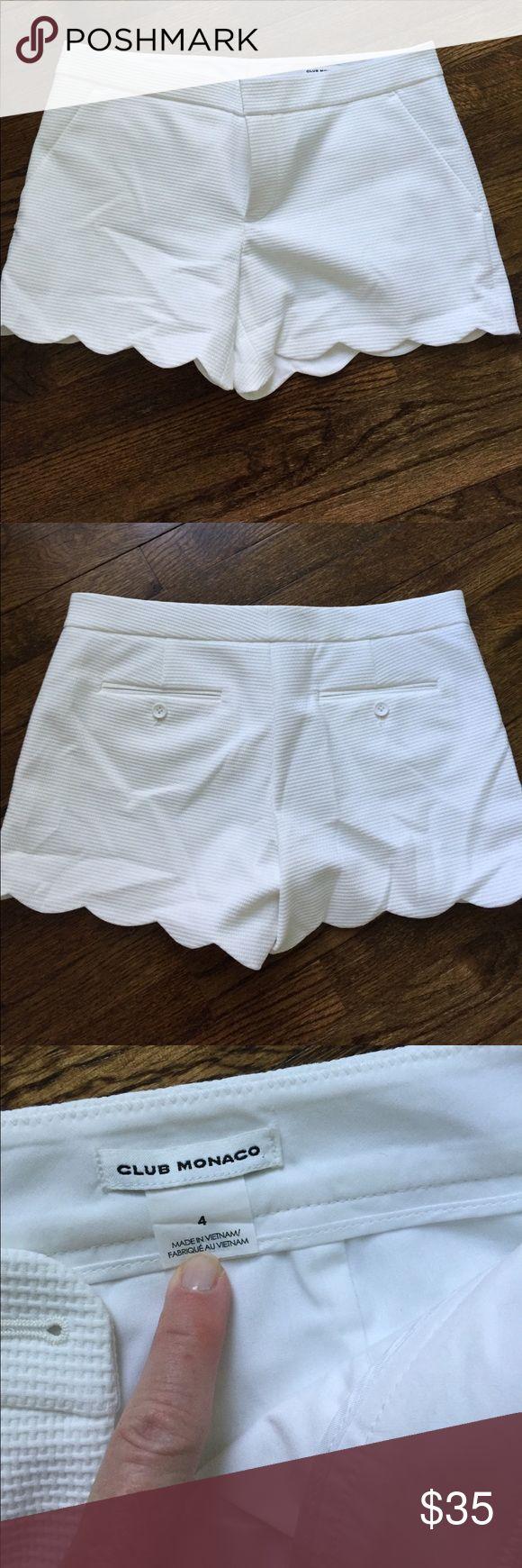 Club Monaco white shorts Club Monaco white shorts Club Monaco Shorts