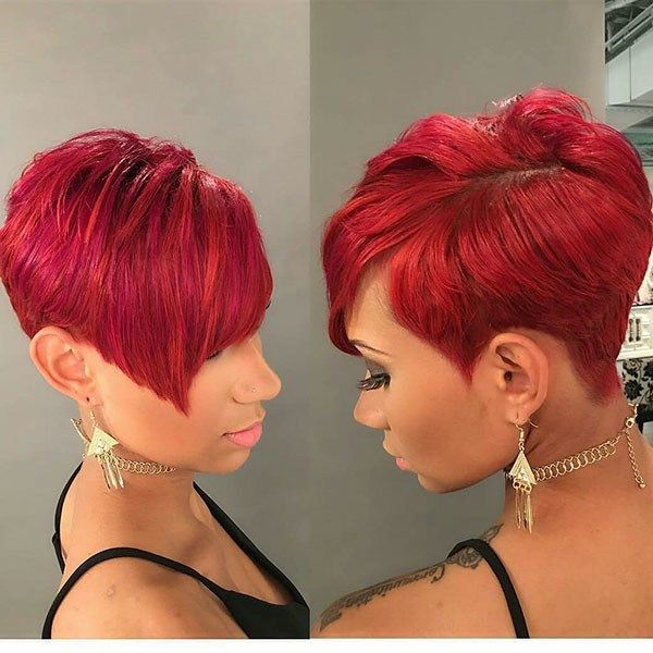Short Haircuts For Black Women 2019 Short Red Hair Red Pixie