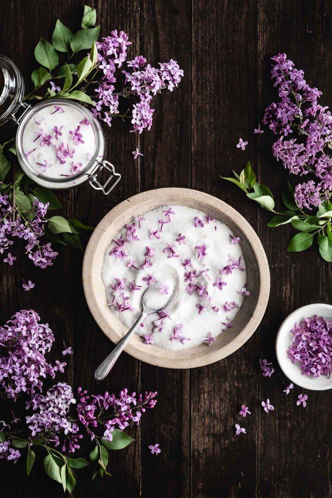 Lilac Sugar Ful Filled Recipe Lilac Lilac Blossom Food Flatlay