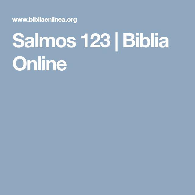 Salmos 123 | Biblia Online