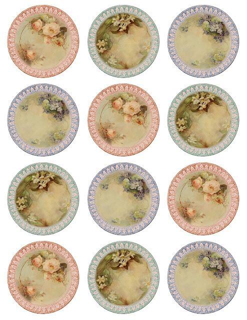 miniature plate printables