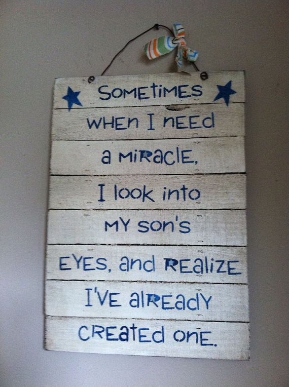 Sometimes when I need a miracle, I look into my sons eyes and realize I already created one on Etsy, $29.99