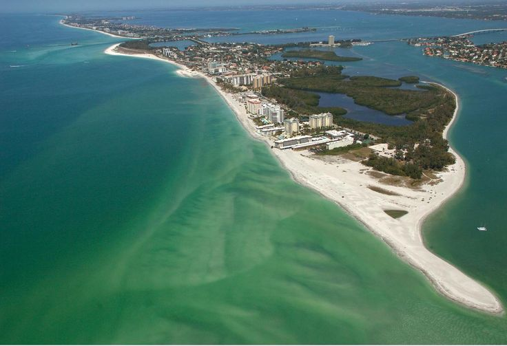 Lido Beach, Sarasota, Florida. Been here a couple times. The last time was for the Sarasota half marathon. The race route included crossing the bridge in the upper-right. (Hoping to run that race again...)