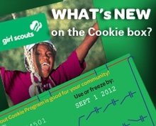 Cookie time!!! Emma is selling if anyone wants any. I never realized all the different recipes for Girl Scout cookies...they usually don't make it past my mouth from the box!