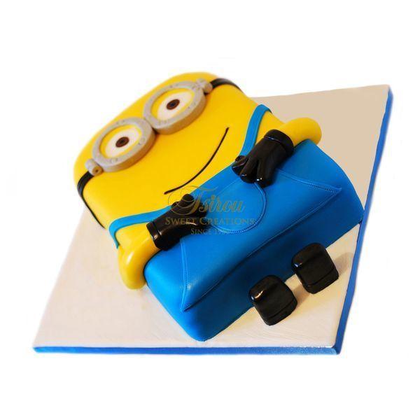 τούρτες γενεθλίων :: τούρτες για αγόρια :: MINIONS 30 3D