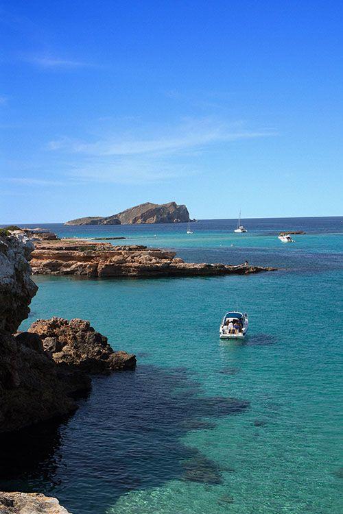 Idyllic bay in Ibiza... This inspired us to start the Idyllic bays line.