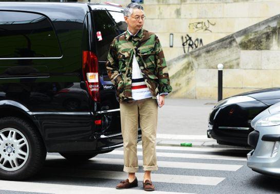 Takahiro Kinoshita, editor-in-chief of Popeye Magazine, at Paris fashion week.