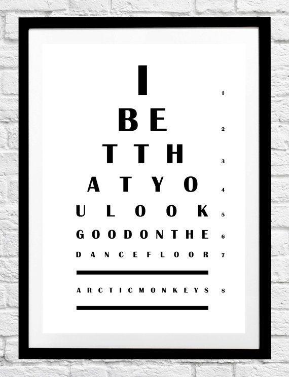 Tabla optométrica - Arctic Monkeys