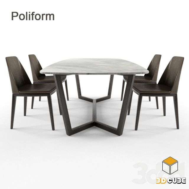 55 Table And Chair 3ds Max File Free Download Furniture Dining