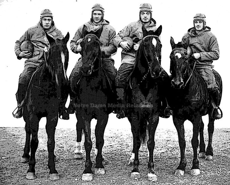 October 18, 1924: The Four Horsemen Arrive // Moments // 125 Football // University of Notre Dame