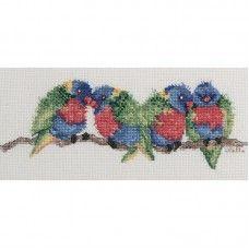 Lesley Suzanne Davies Rainbow Lorikeets Cross Stitch Kit