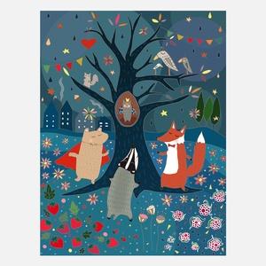 Midsummer Night Fair Print A4 now featured on Fab.