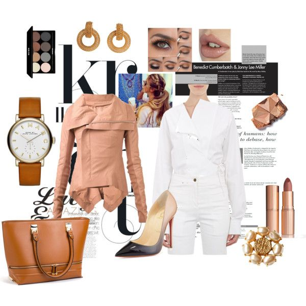 MONOCROMATICO by ldavidsonm on Polyvore featuring moda, Derek Lam, Rick Owens, Christian Louboutin, New Look, Chanel, Marc by Marc Jacobs, Edward Bess and Charlotte Tilbury