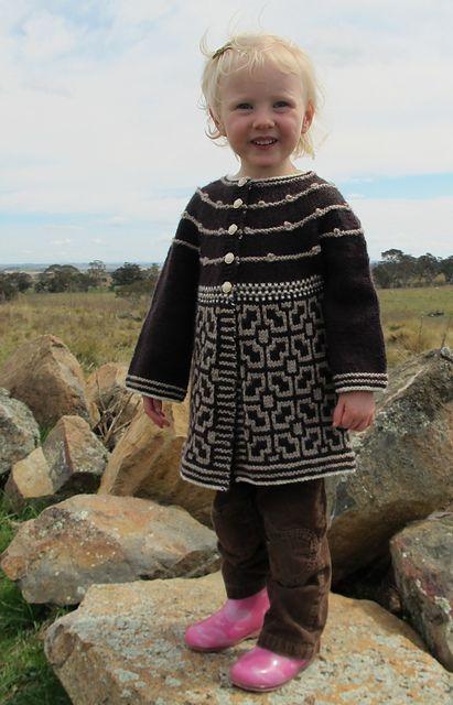 Wonderful kids sweater. Winter Garden pattern by Allison Britt