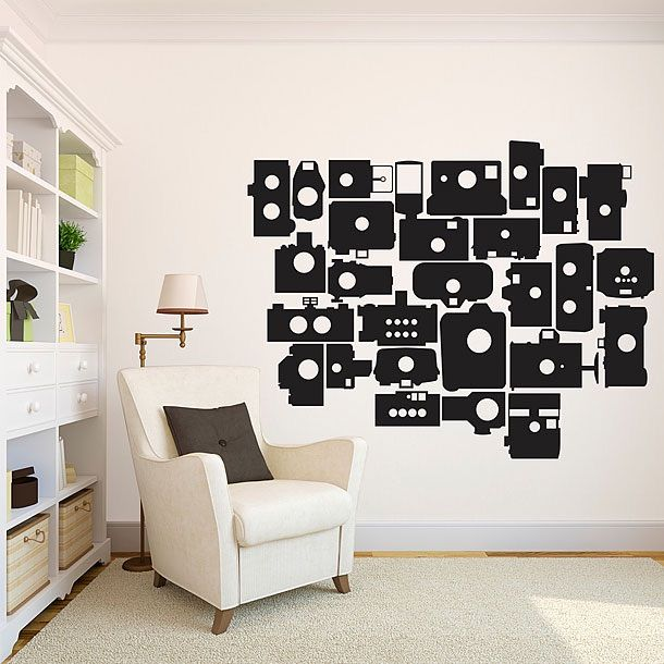 These Bunch Of Different Style Camera Wall Stickers Are So Creative!