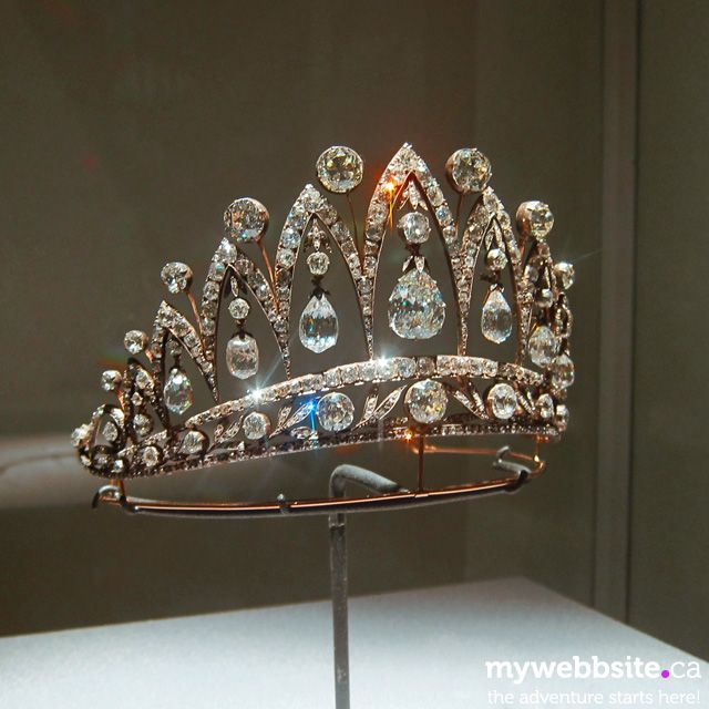 The famous Faberge tiara with tear-drop diamonds that were presented by Alexander I of Russia to Empress Josephine of France. In 1890 Faberge used diamonds to create tiara for descendants of Josephine's son, the Duke of Leuchtenberg. After WWI the tiara was inherited by the Count of Flanders who bequeathed it to his sister Marie José, the former queen of Italy, who never wore it in public.