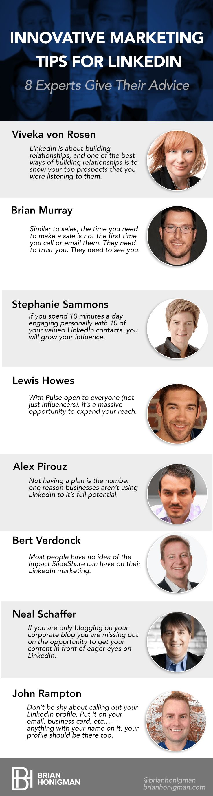 8 Ways to Better Market Yourself on LinkedIn in 2015 via BrianHonigman.com