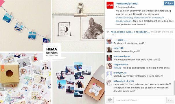 HEMA | Druk je vierkante foto's af via de mobileprint van HEMA. Geleverd met bijvoorbeeld wit kader en in een mooi kartonnen opbergdoosje.