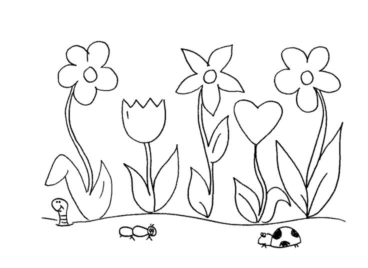 18 best images about gardening coloring pages on pinterest for Flower garden coloring page