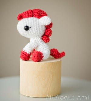 """Click here for the free pony crochet pattern on the """"All about Ami"""" blog."""
