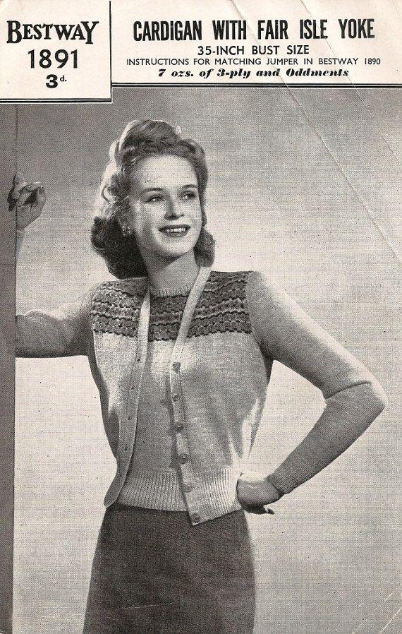 129 best Vintage knitting patterns images on Pinterest   1940's ...