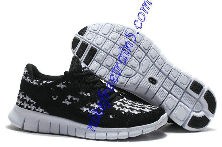 Cheap Nike Free Run 2 Woven Mesh Mens Anthracite Black White 573920 010 For  Sale