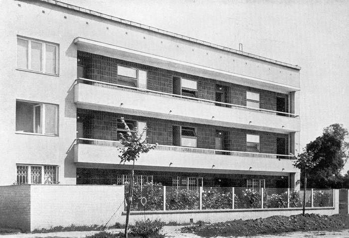 Wacław Lachert's House, Warsaw, Francuska 12, proj. Bohdan Lachert, Jozef Szanajca