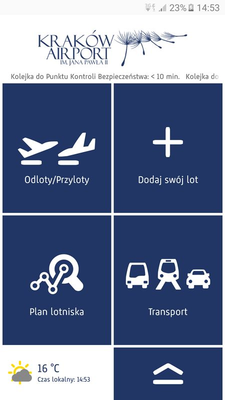 Kraków Airport has published the new mobile app, which is fully integrated with the airport information system. #KrakówAirport #mobileapp #system #airport