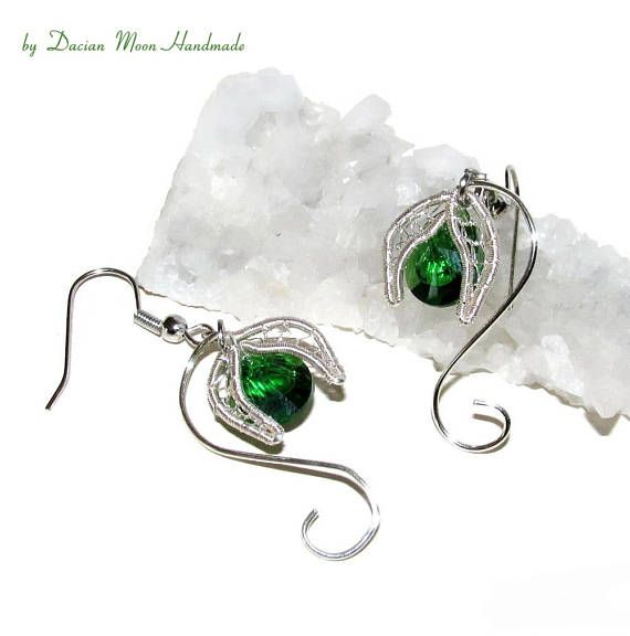 Snowdrops Earrings flower jewelry flower earrings gift for