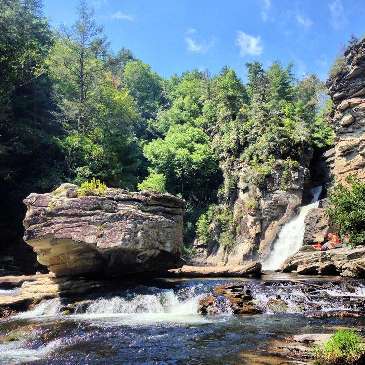 Linville falls North Carolina hiking