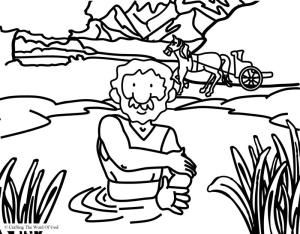 Naaman s little maid coloring pages coloring pages for Naaman the leper coloring page