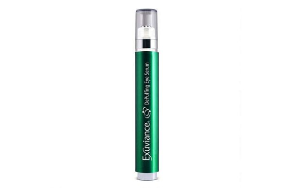 The new Exuviance DePuffing Eye Serum has a handy rollerball applicator to encourage lymphatic drainage underneath the eye alongside powerful ingredients to reduce puffiness and under eye bags.