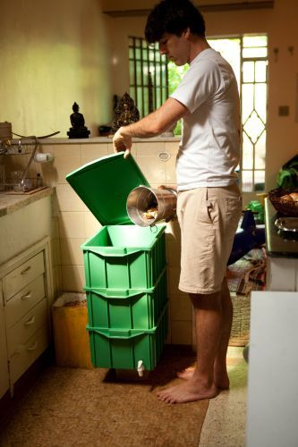 Make your own composting bin.