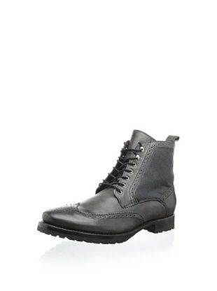 62% OFF JD Fisk Men's Leeds Lace-Up Boot (Black)