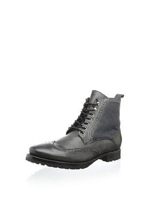 62% OFF JD Fisk Men's Leeds Lace-Up Boot (Black)