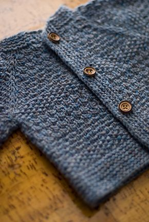 Such a cute sweater! Ravelry: wolletron's Baby Tweed