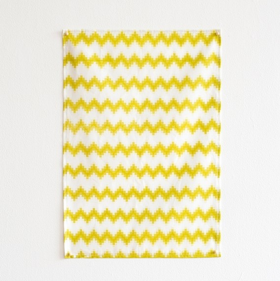 Chevron Pixel Tea Towel