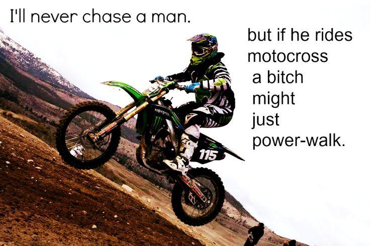 Motocross girlfriend kawasaki ride hot